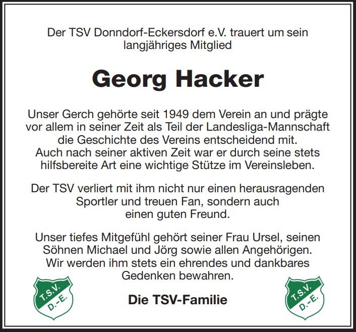 Nachruf Georg Hacker