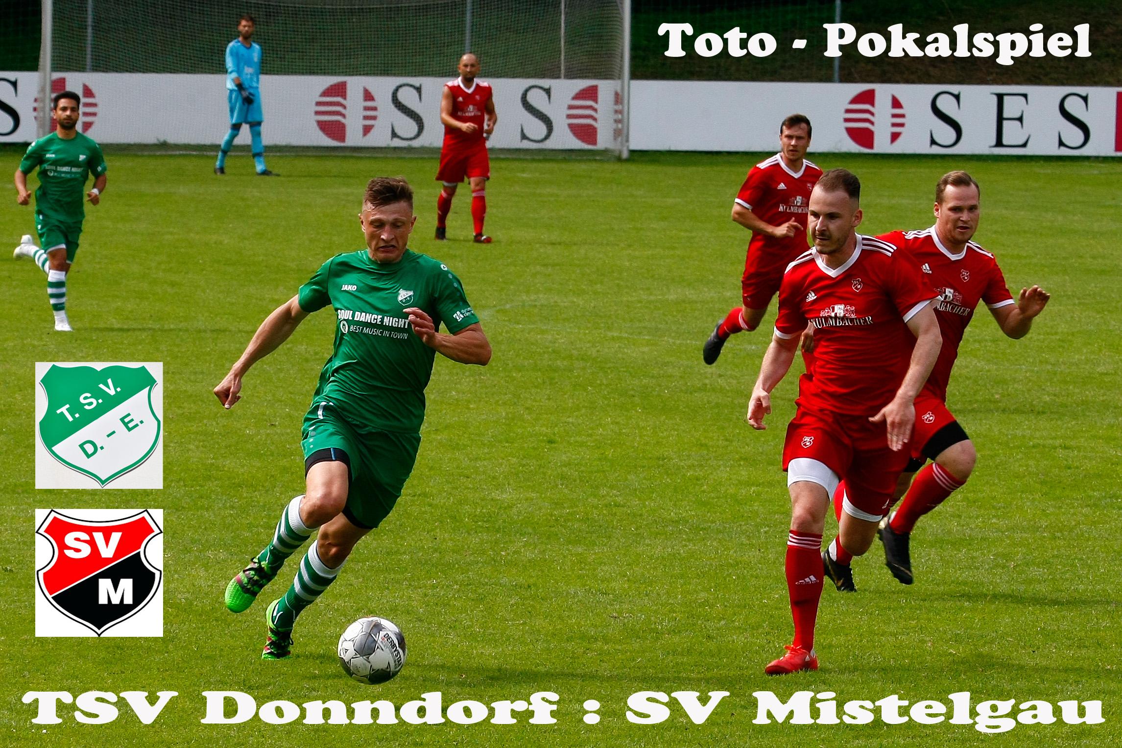- TSV Donndorf unterliegt in der Runde 2 des Toto-Pokals -
